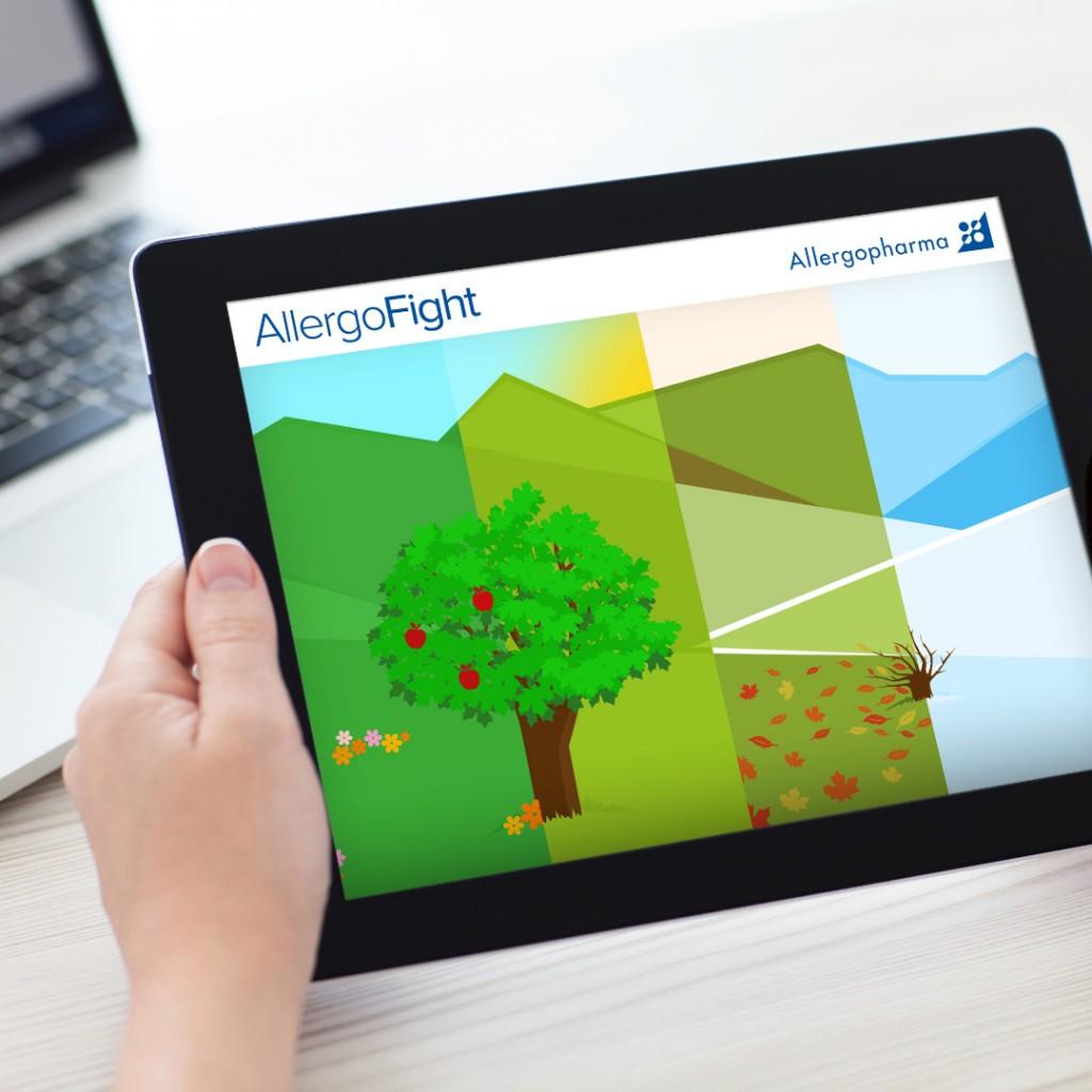 App-Game für das Pharmaunternehmen Allergopharma (Merck). Software-Spiele-Entwicklung für ein Rx-Präparat