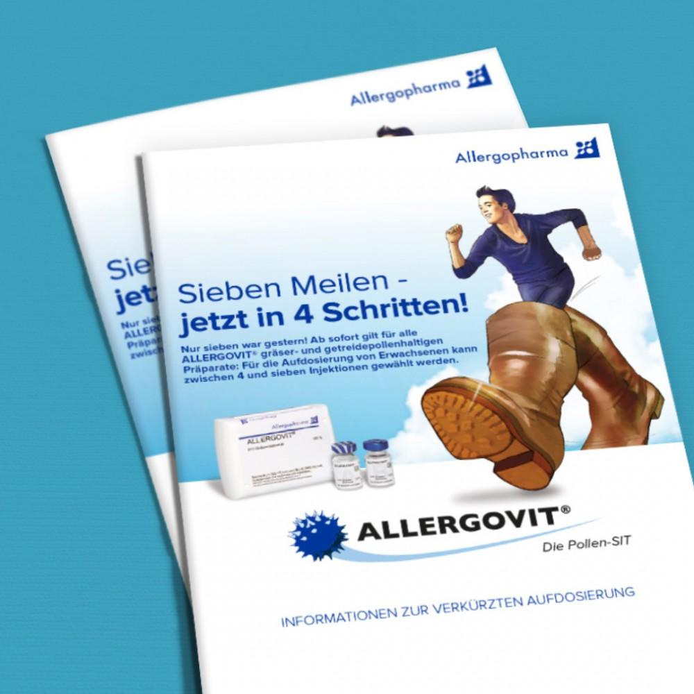 Healthcare Kommunikation. Direct Mailing Kampagne mit der Zielgruppe Ärzte für Allergopharma (Merck)