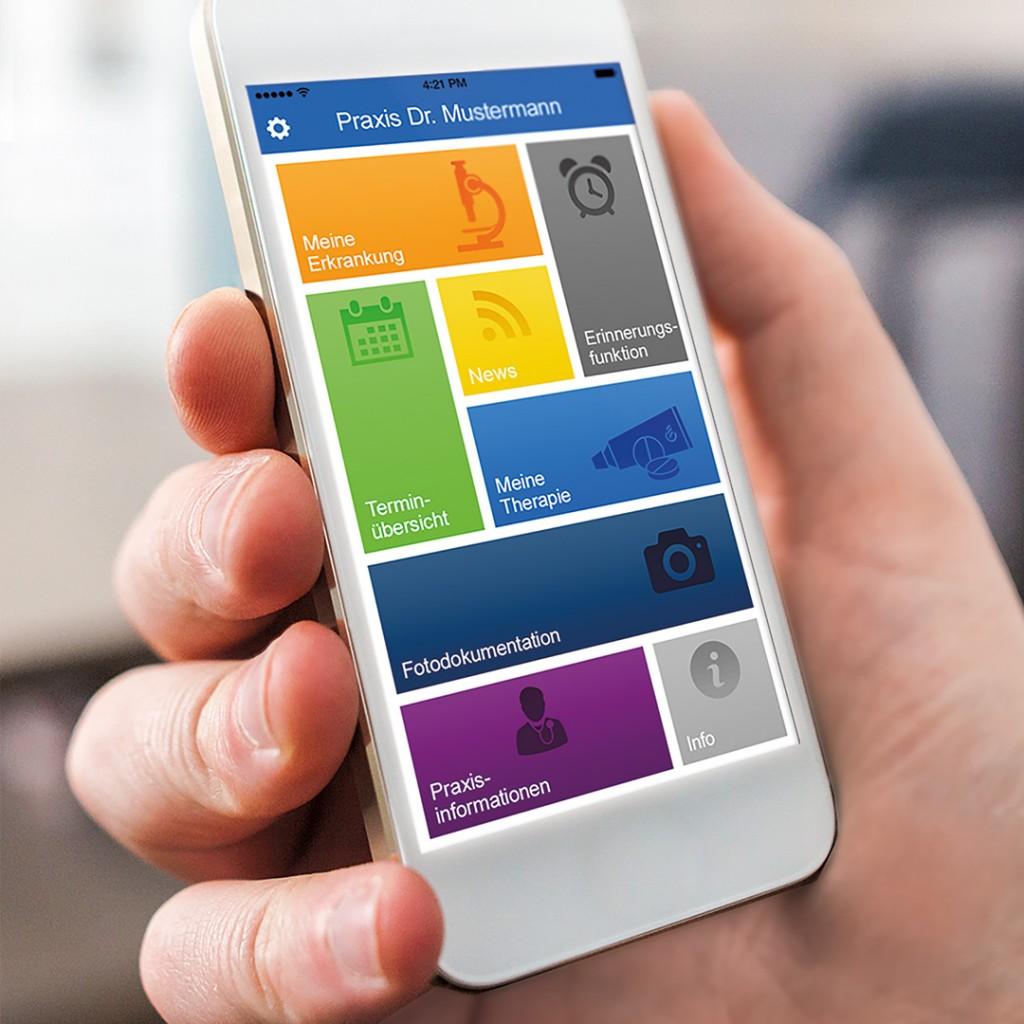 """Digitale Healthcare Kommunikation. Das App-System für Arzt, Praxis und Patient """"derma4doc"""" der Healthcare Werbeagentur FUSE"""