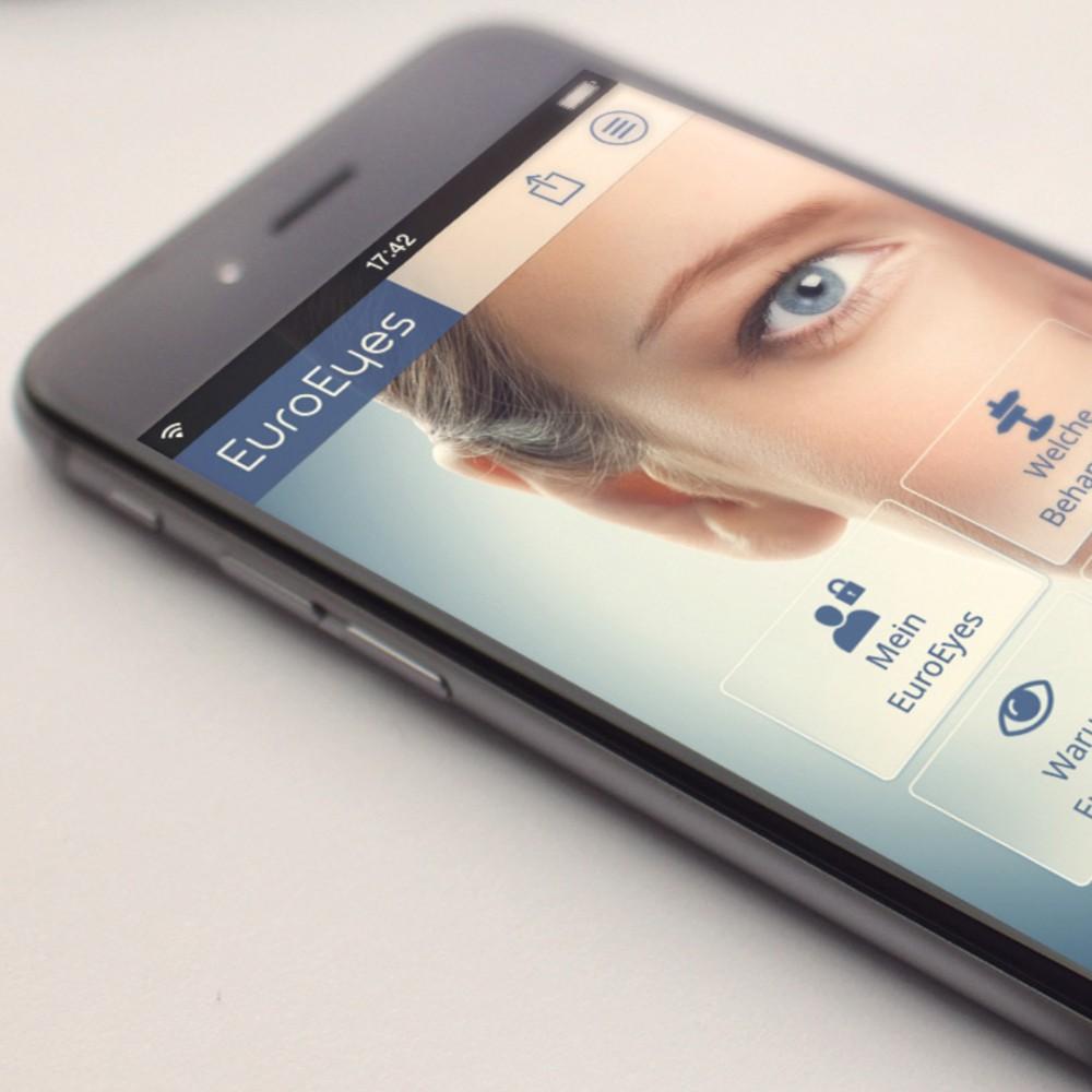 Digitale Patientenkommunikation mit der Healthcare-App für den größten Augenlaser Klinikkonzern
