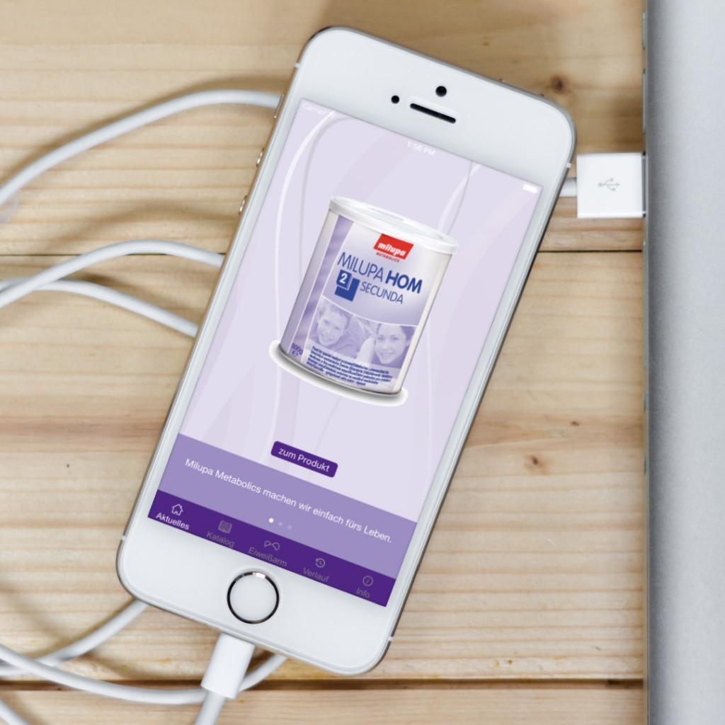 Healthcare App-Entwicklung. Produkt-App für Nutricia Metabolics (Danone)